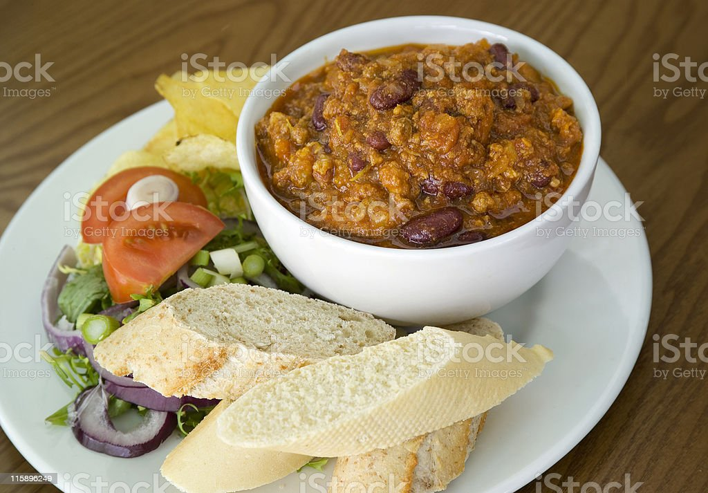 Bowl of Chilli royalty-free stock photo