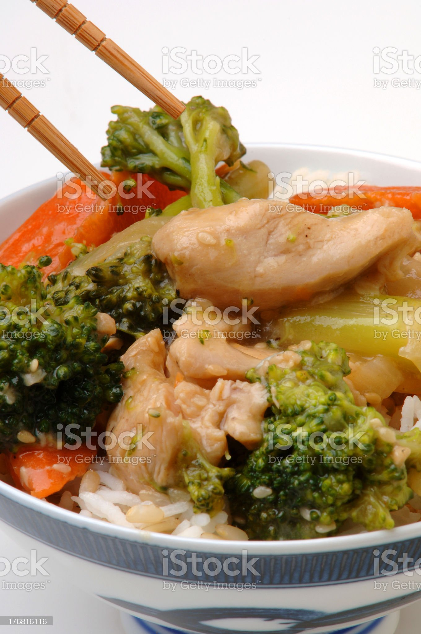 Bowl of Chinese/Japanese food royalty-free stock photo