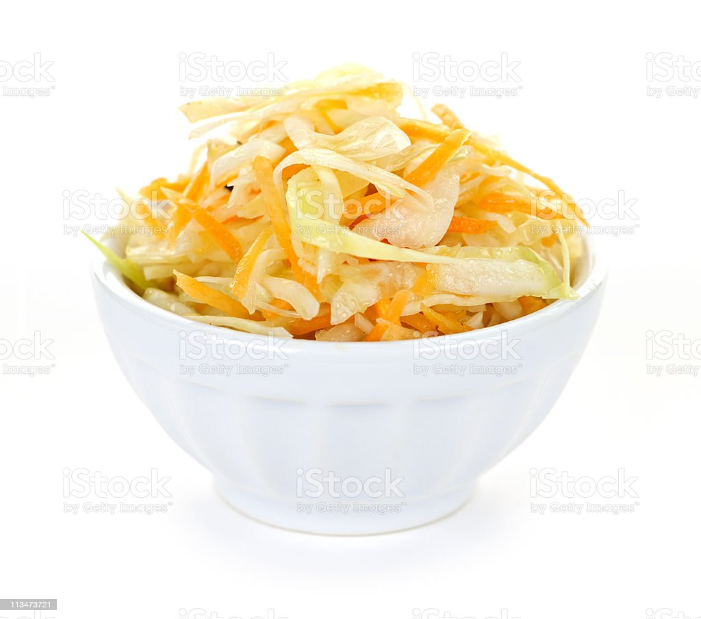 Bowl of coleslaw royalty-free stock photo