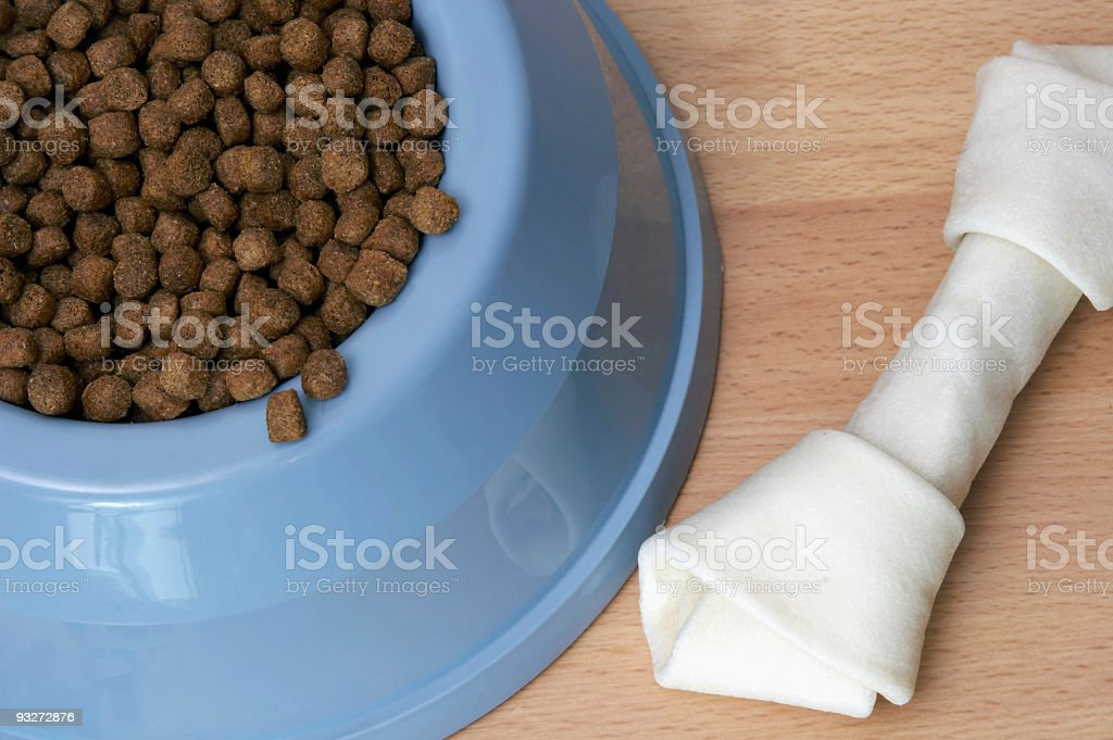 Bowl of Dog Food stock photo