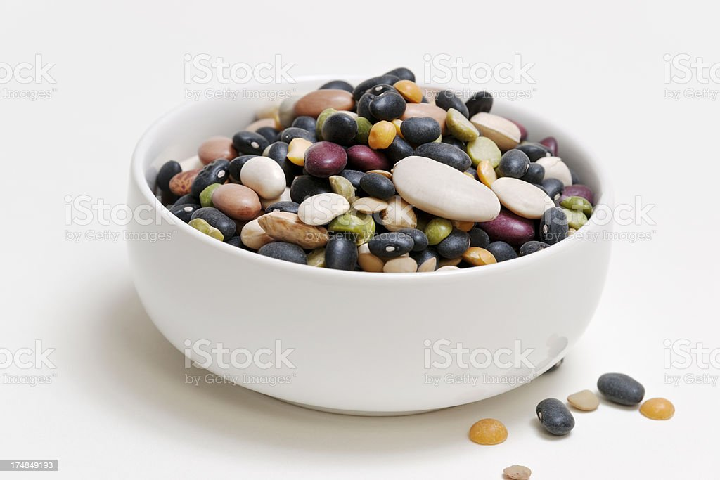 Bowl of Dry Beans royalty-free stock photo