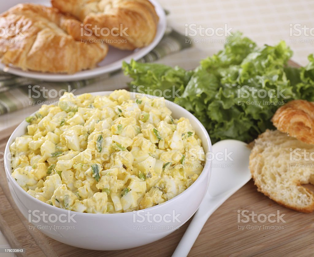 Bowl of Egg Salad stock photo