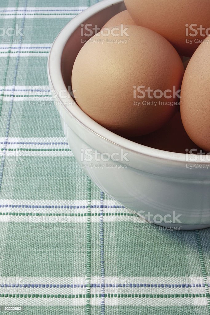 Bowl of eggs royalty-free stock photo