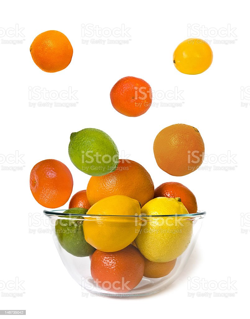 Bowl of fly citrus royalty-free stock photo
