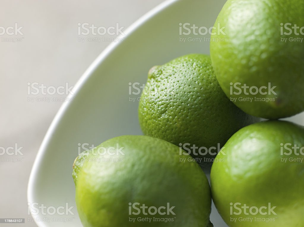 Bowl Of Fresh Limes royalty-free stock photo