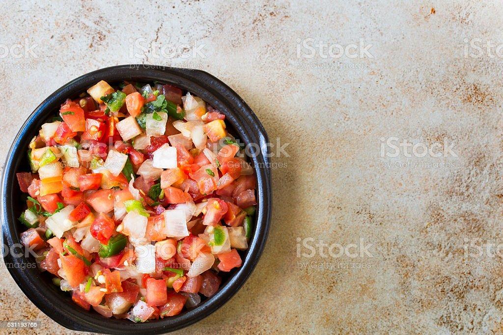 Bowl of Fresh Pico de Gallo stock photo