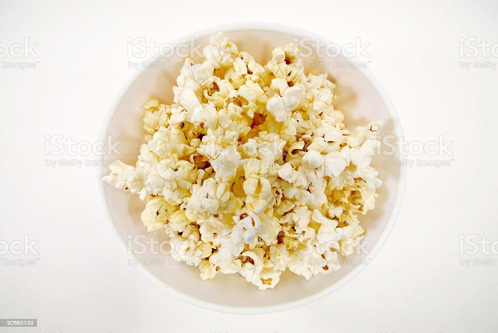 Bowl of fresh popcorn royalty-free stock photo