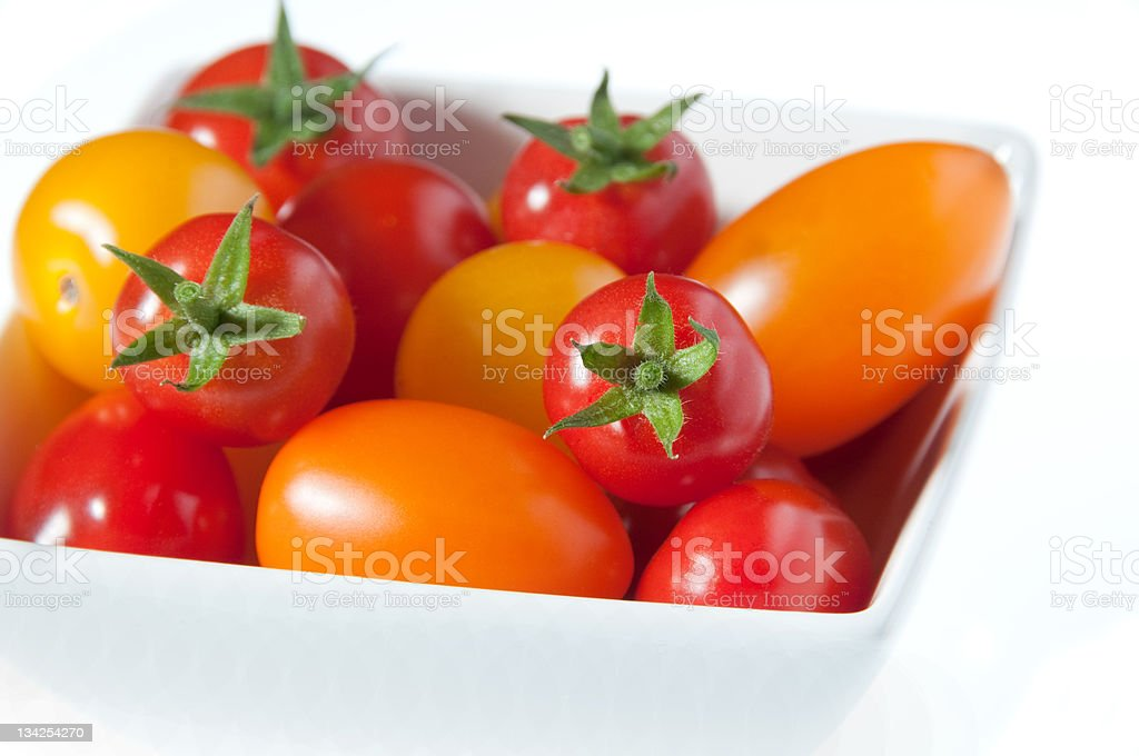 Bowl of fresh tomatoes royalty-free stock photo