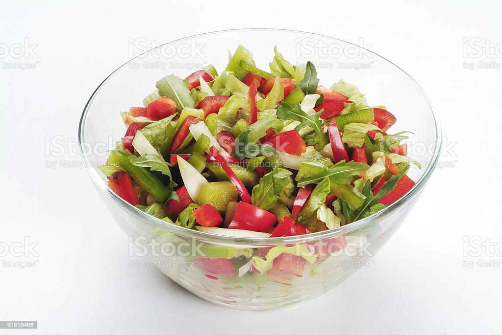 Чаша салат из свежих овощей Стоковые фото Стоковая фотография