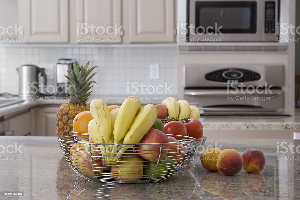 bowl of fruit in modern kitchen royalty-free stock photo
