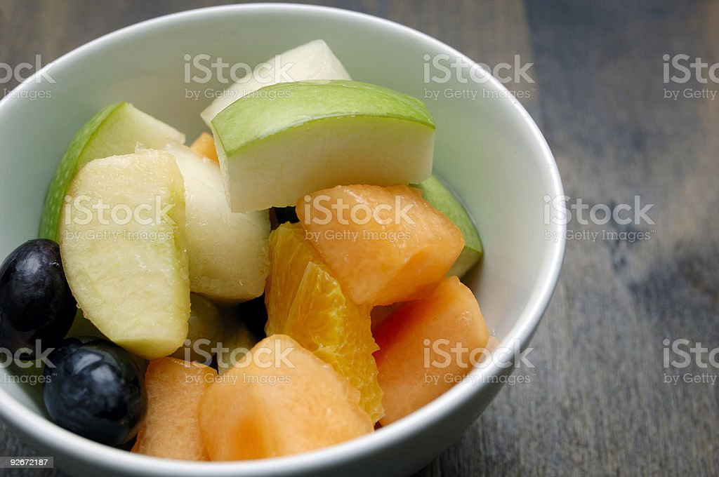 bowl of fruit salad royalty-free stock photo