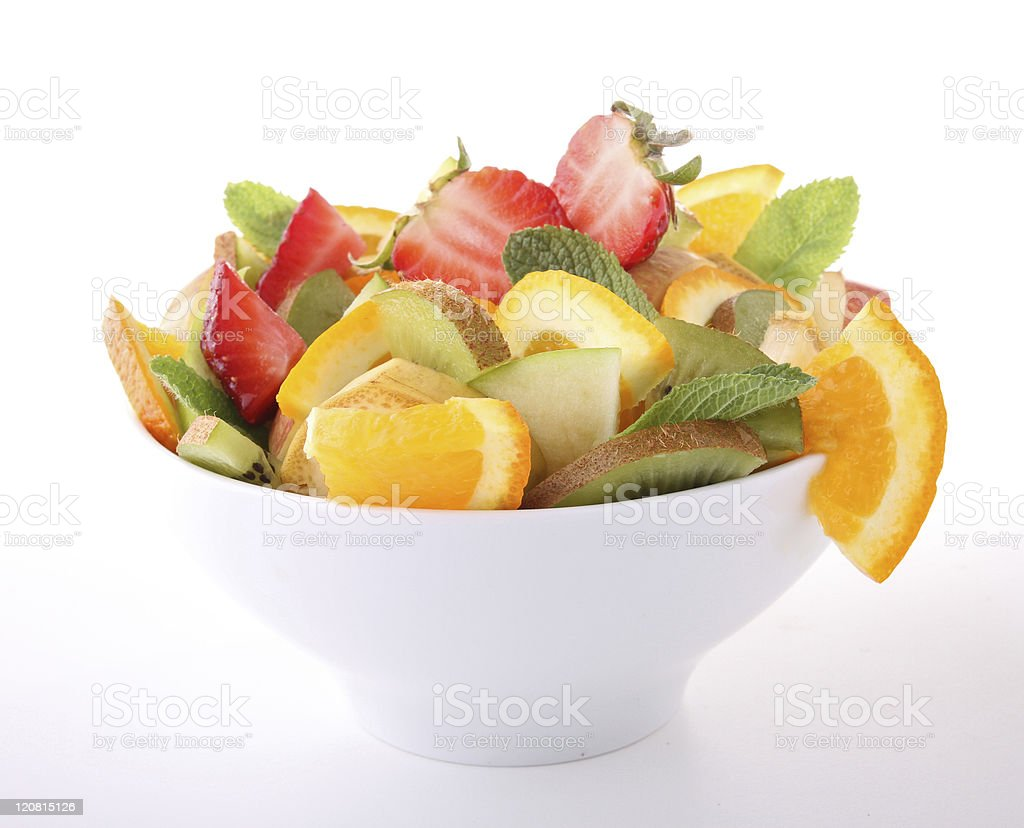 bowl of fruits salad royalty-free stock photo