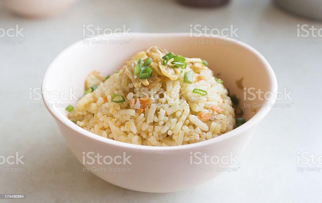 Ваза Чеснок Жареный рис Стоковые фото Стоковая фотография
