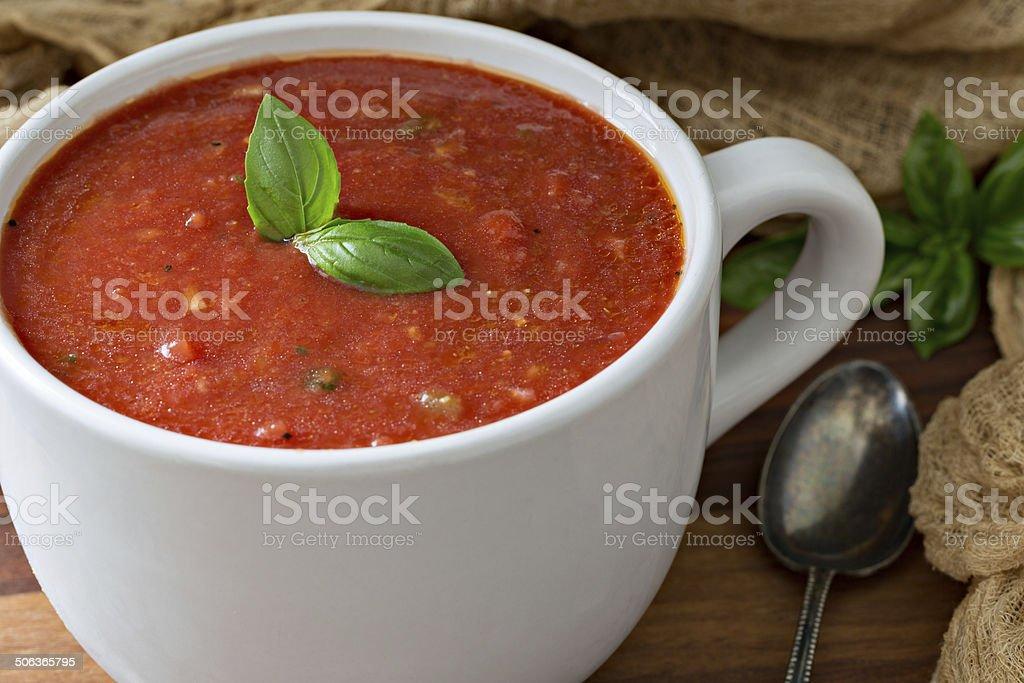 Bowl Of Gazpacho stock photo