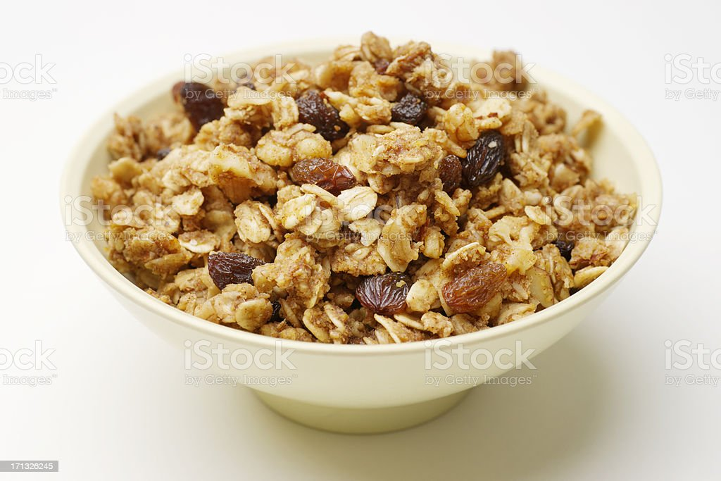 Bowl of Granola stock photo