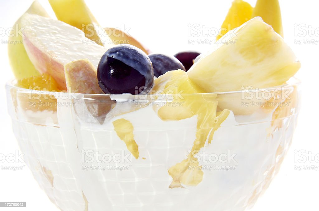 bowl of healthy frut salad royalty-free stock photo