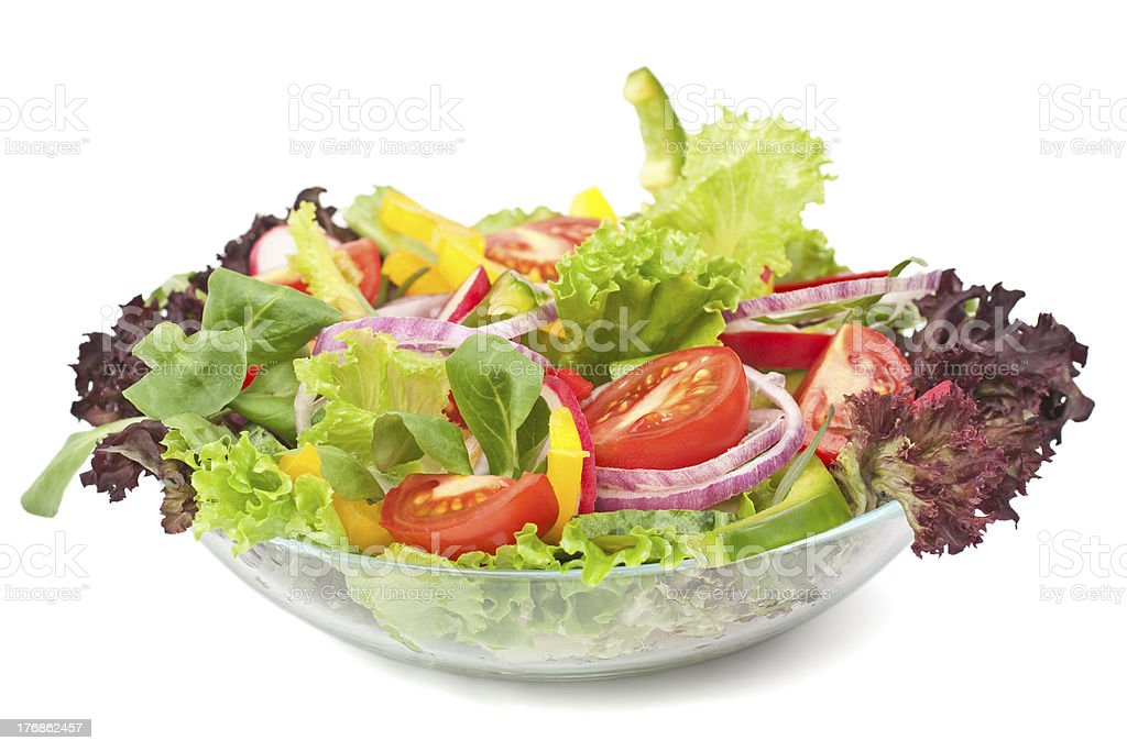 bowl of healthy vegetables salad royalty-free stock photo