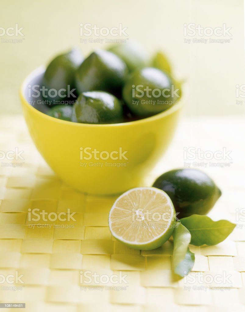 Bowl of Limes royalty-free stock photo