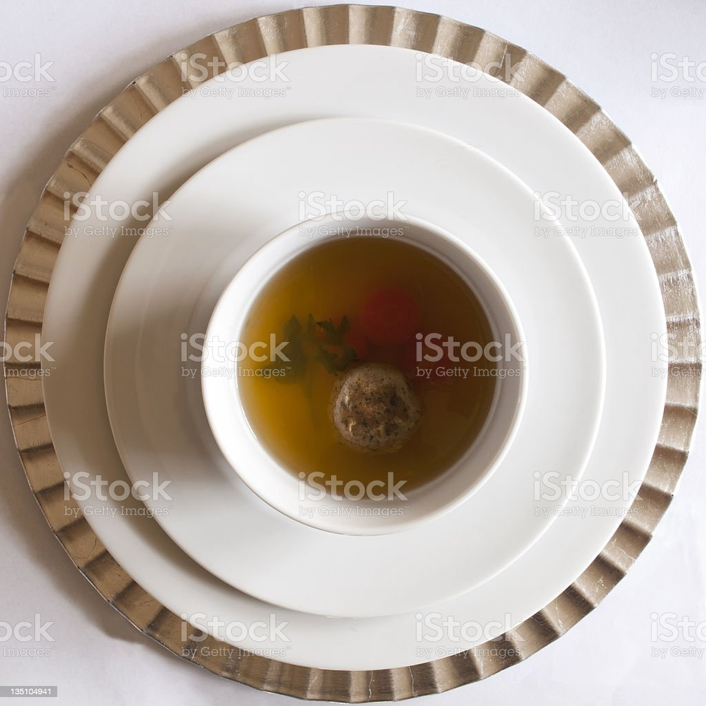 Bowl of Matzo Soup royalty-free stock photo