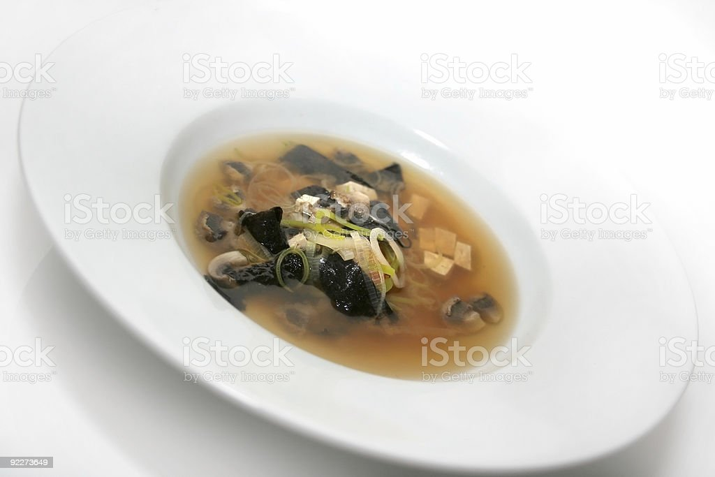 Bowl of Miso Soup royalty-free stock photo