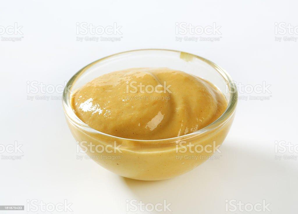bowl of mustard royalty-free stock photo