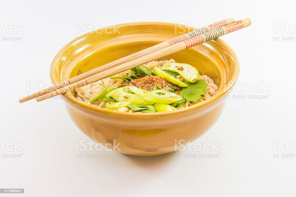 bowl of noodle royalty-free stock photo