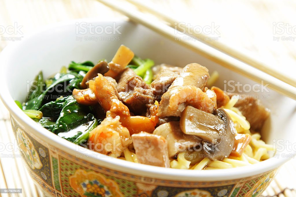Bowl of noodle stock photo
