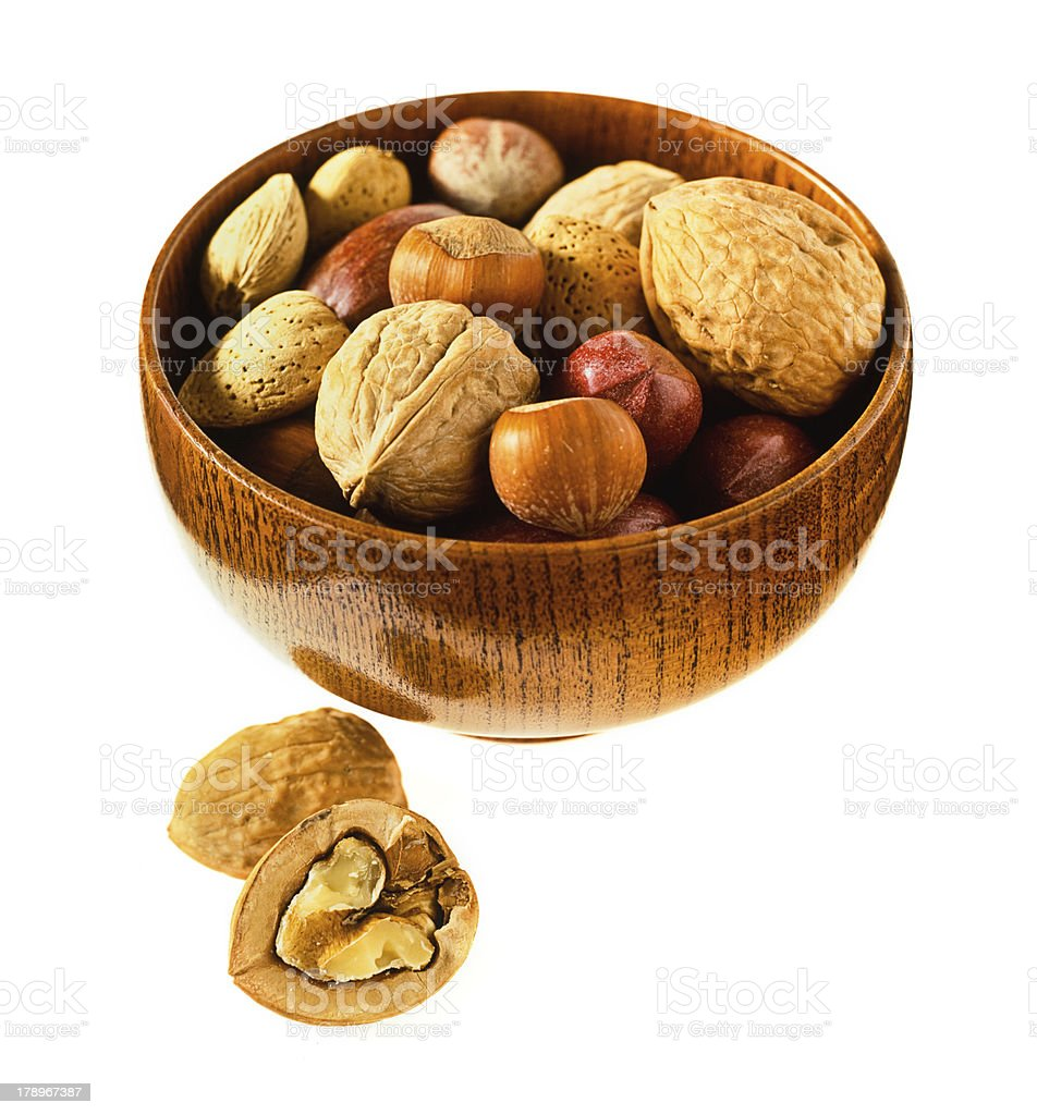 Bowl of Nuts royalty-free stock photo