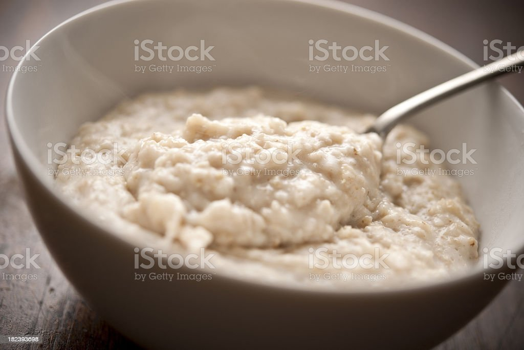 bowl of oatmeal stock photo