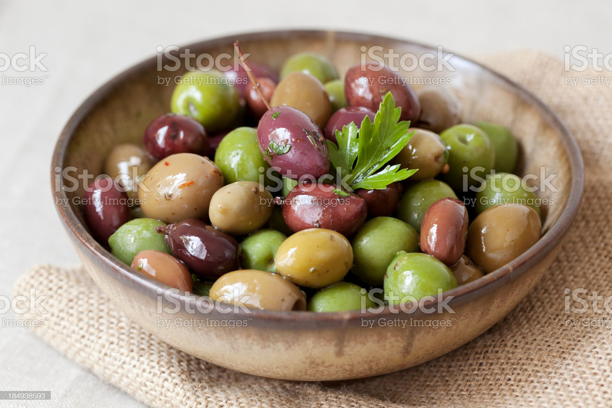 Bowl of olives royalty-free stock photo