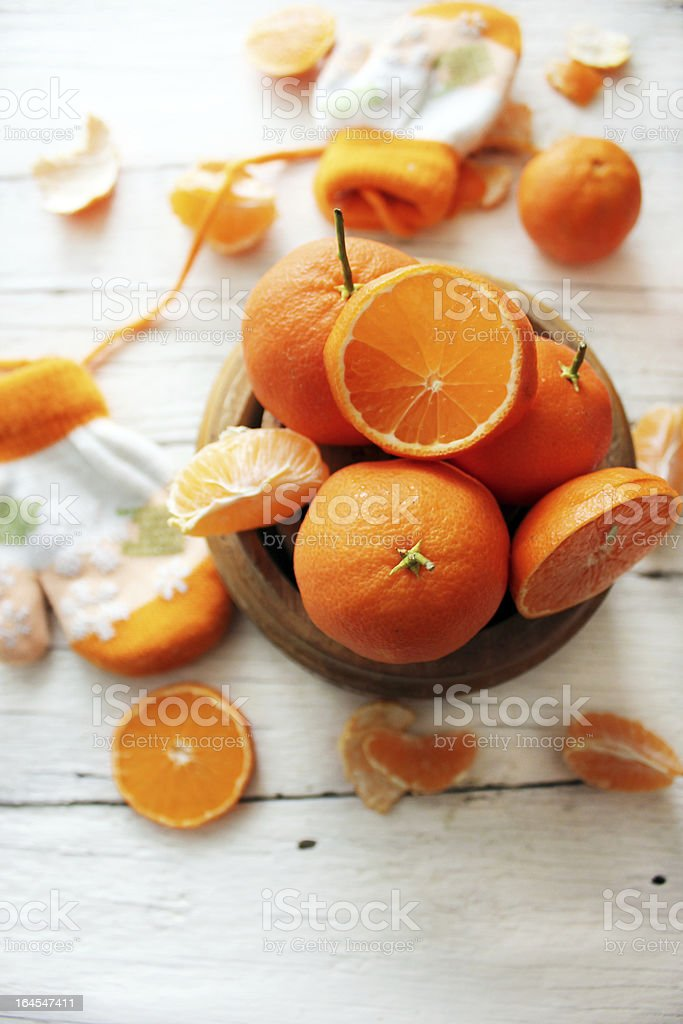 Bowl of oranges royalty-free stock photo