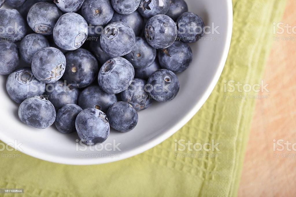 Bowl of Organic Blueberries royalty-free stock photo