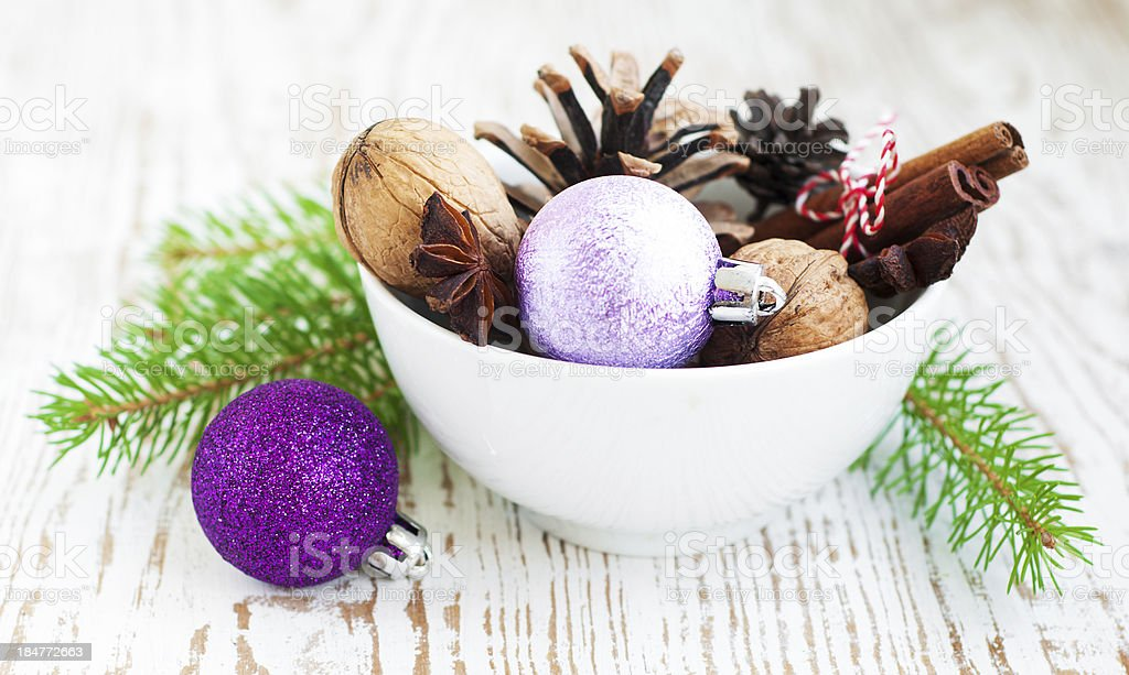 Bowl of Ornaments royalty-free stock photo