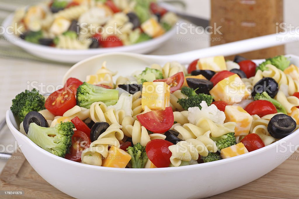 Bowl of Pasta Salad royalty-free stock photo