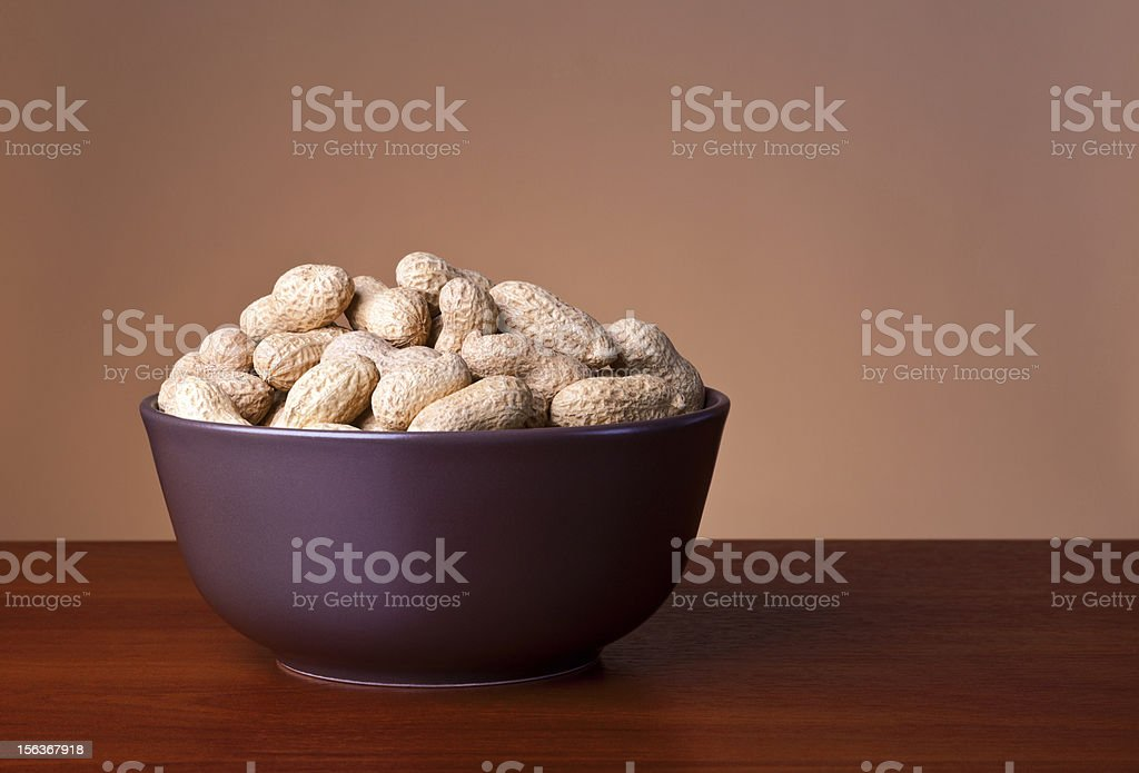 Bowl Of Peanuts royalty-free stock photo