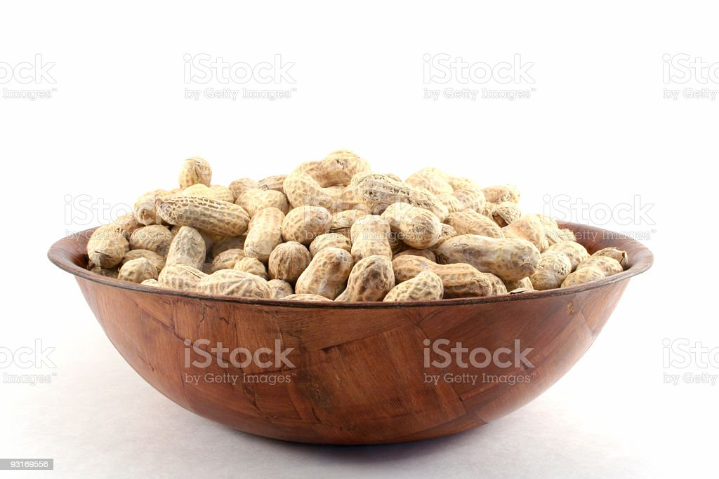 Bowl of Peanuts stock photo