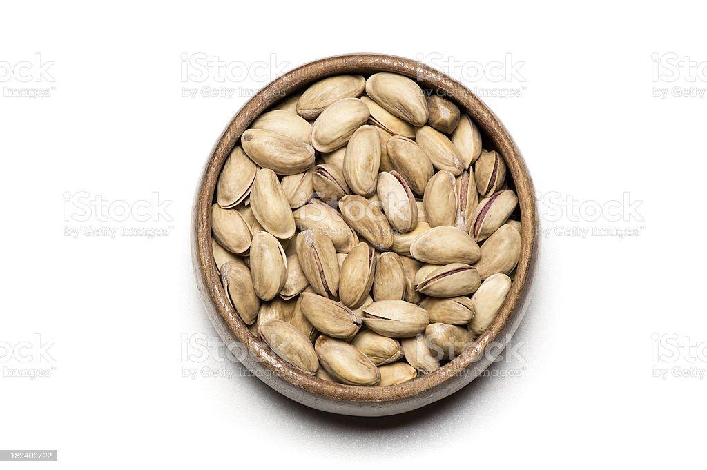 Bowl of pistachio royalty-free stock photo