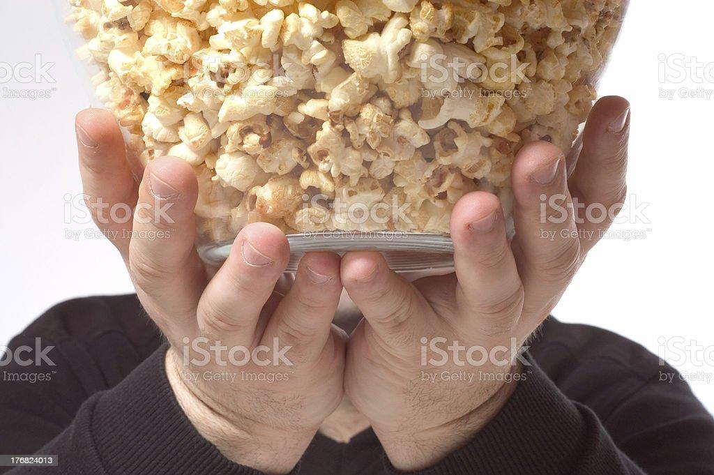 bowl of popcorn royalty-free stock photo