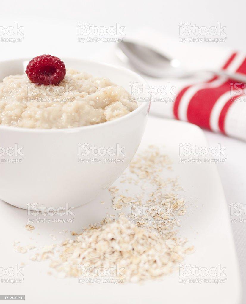 Bowl of Porridge Oats royalty-free stock photo