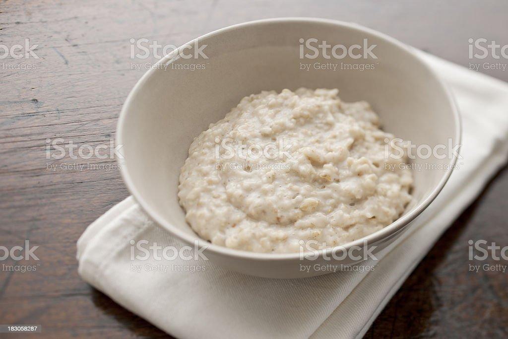 bowl of Porridge ( oatmeal ) stock photo