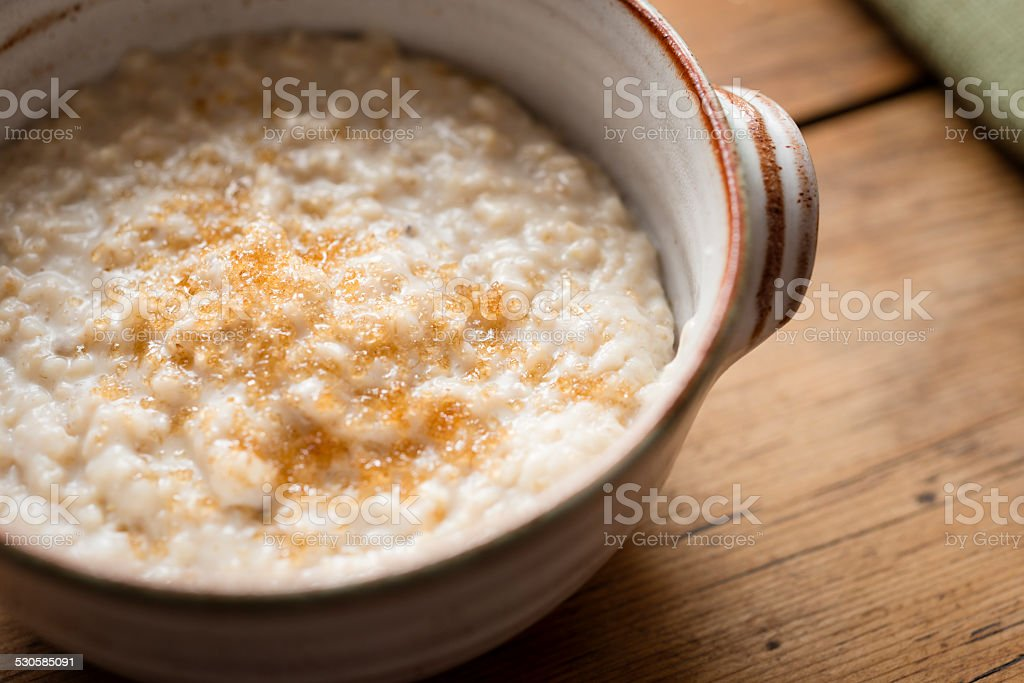 Bowl of Porridge stock photo