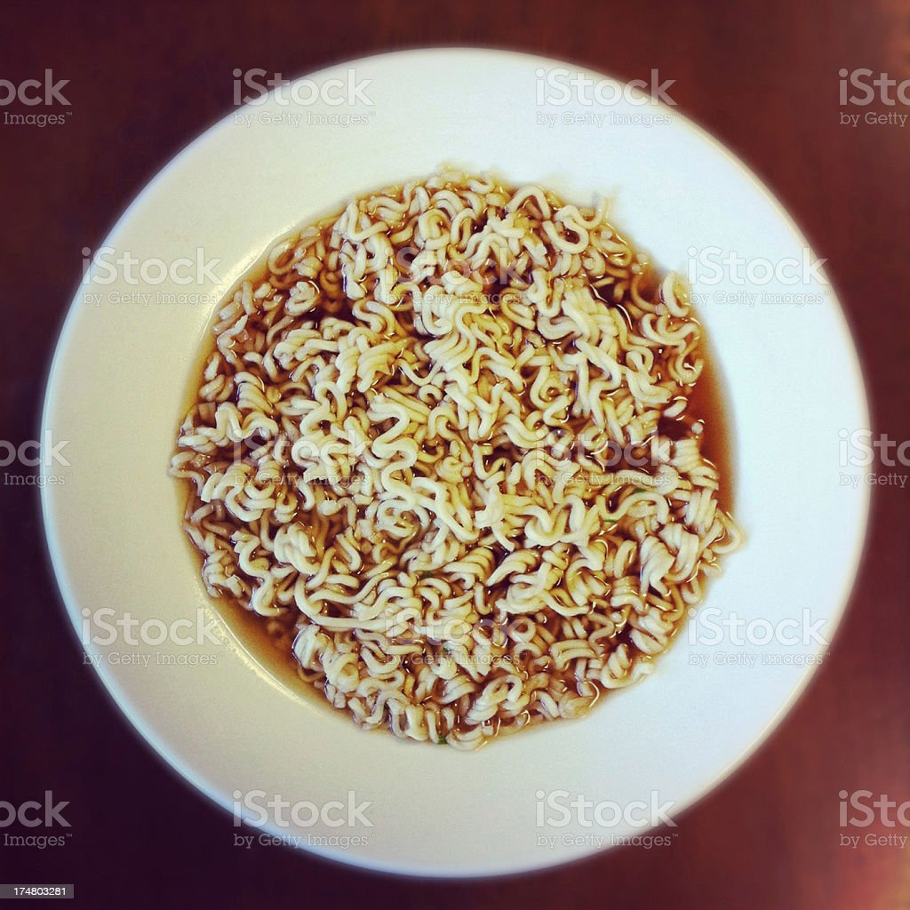 Bowl of ramen on a table. royalty-free stock photo