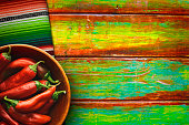 Bowl of Red Chili Peppers on Vibrant Background