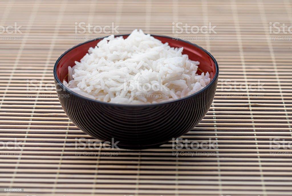 Bowl of rice, Asian Cuisine stock photo