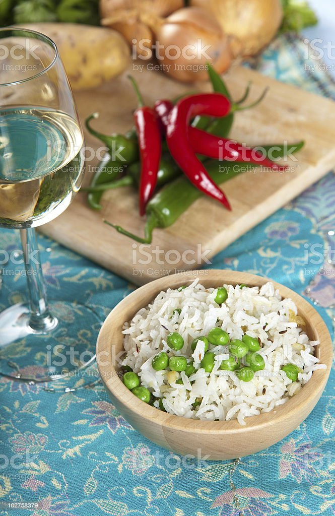 Bowl of rice royalty-free stock photo