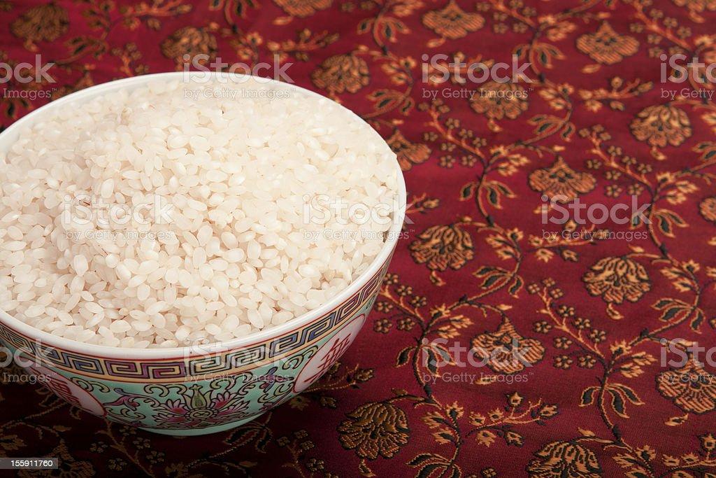 Bowl of rice. royalty-free stock photo