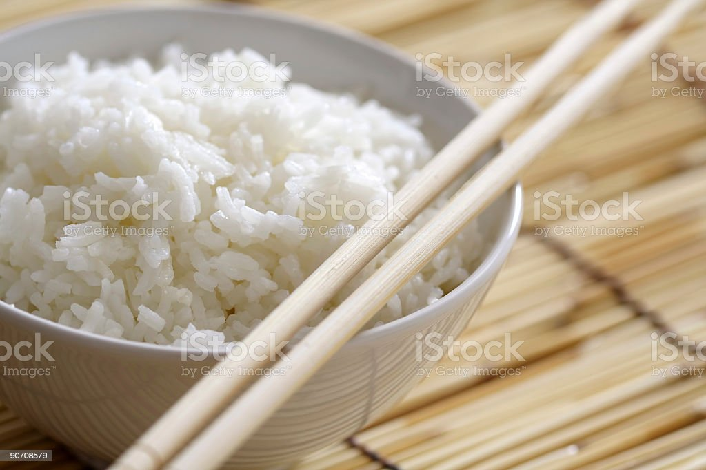 Bowl of rice stock photo