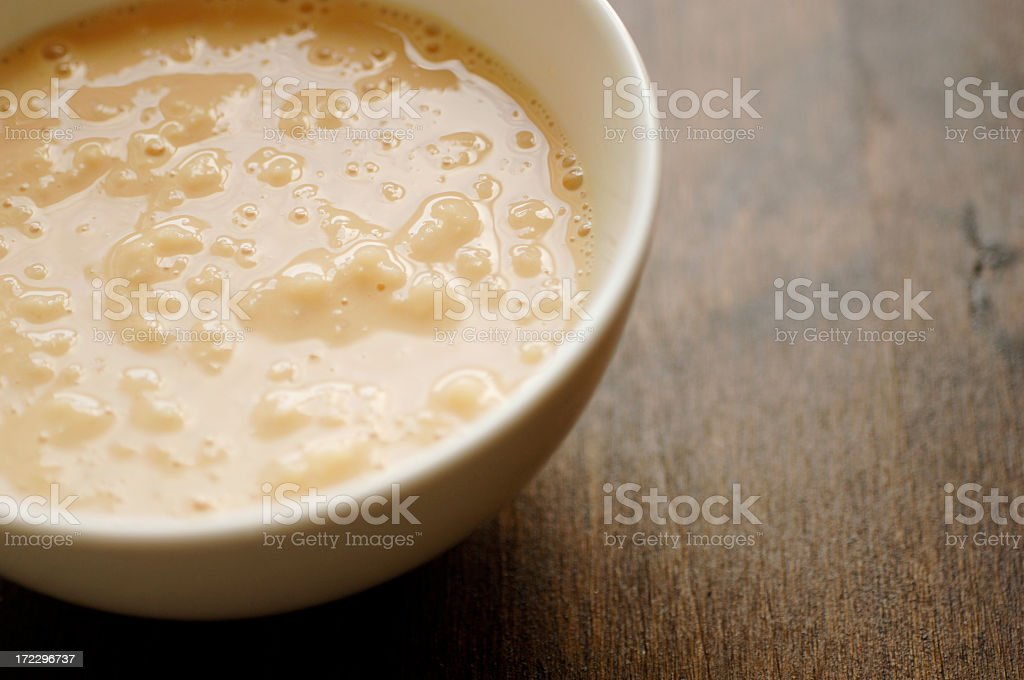 bowl of rice pudding stock photo