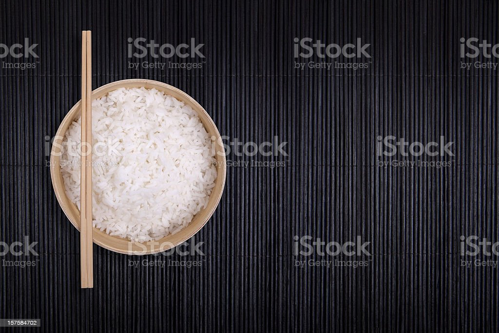 Bowl of Rice with Chopsticks royalty-free stock photo