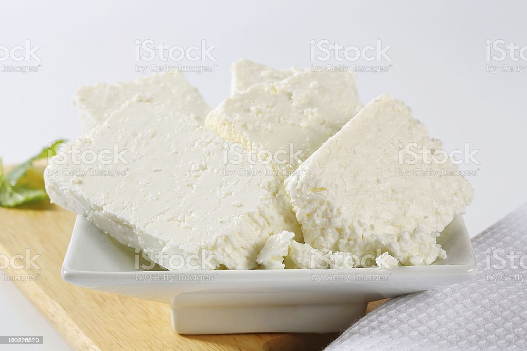 bowl of ricotta cheese royalty-free stock photo